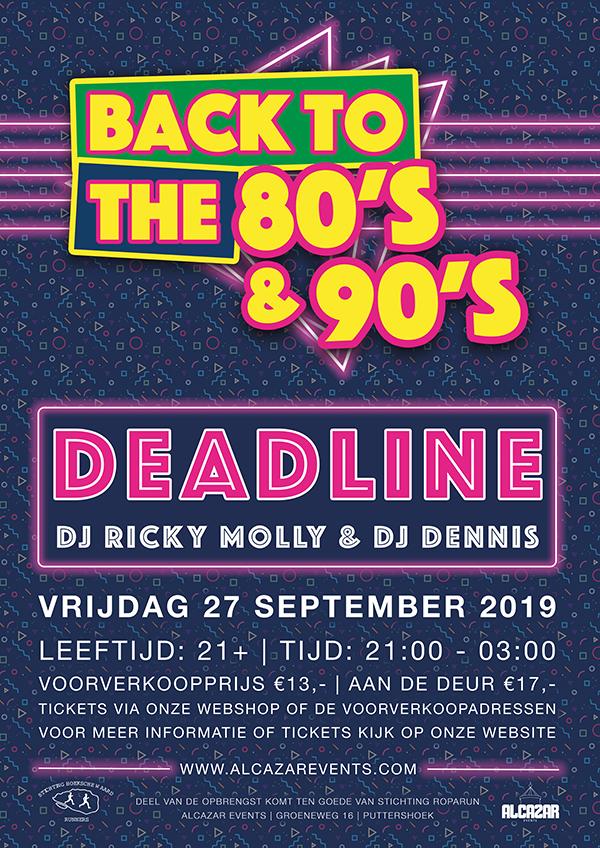 deadline poster ontwerp evenement alcazar