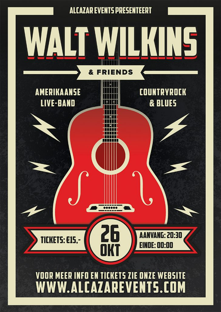 walt wilkins alcazar poster ontwerp