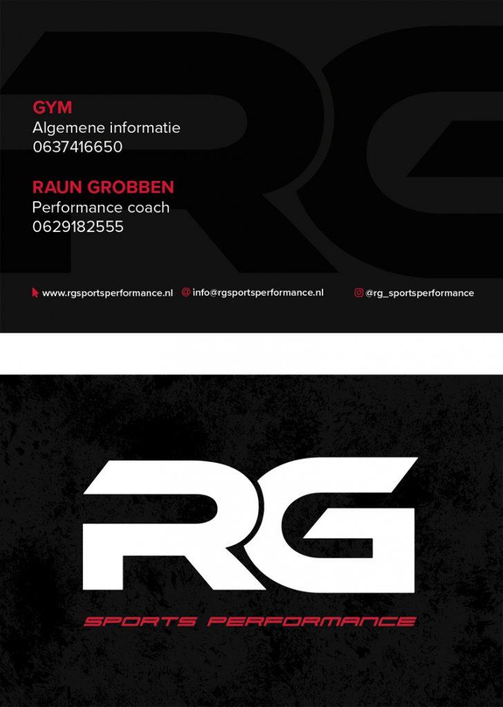 visitekaartje rg sports performance sportschool